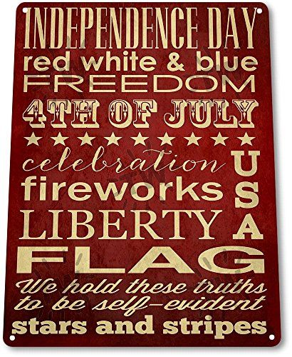 Metal Decorative Signs Beauteous Tin Sign Independence Day Flag Metal Decor Patriotic July 4Th Design Decoration
