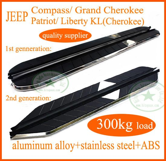 Compass Grand Cherokee Patriot Liberty Kl Hot Running Board Side Step Bar Loading 300kg Hot Sale In China Free Shipping To Asia Sorento Rav4 Replacement Parts