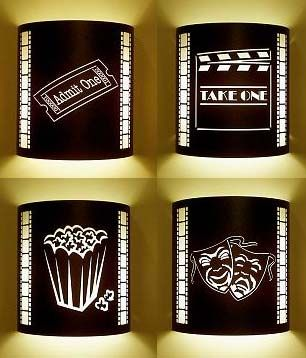 Home Theater Room Wall Sconces : Four or More Home Theater Sconces (with Filmstrips) Home Theater Pinterest Filmstrip ...