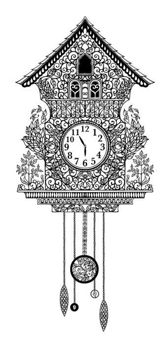 Cuckoo Clocks Johanna Basford Printables Adult Coloring Book