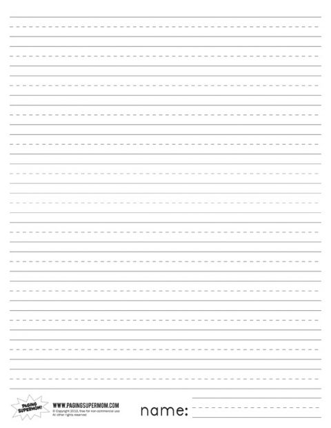 Printable Primary Lined Paper Pinterest Supermom, Homework and