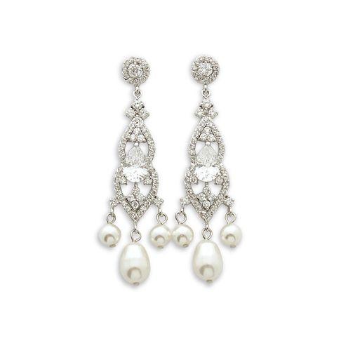 Laura Pearl Chandelier Earrings | Bridal wedding jewellery ...