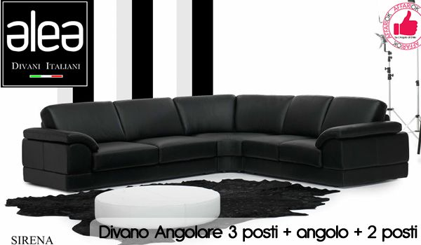 Divano Angolare 3 Posti + Angolo + 2 Posti Da ALEA Divani http ...