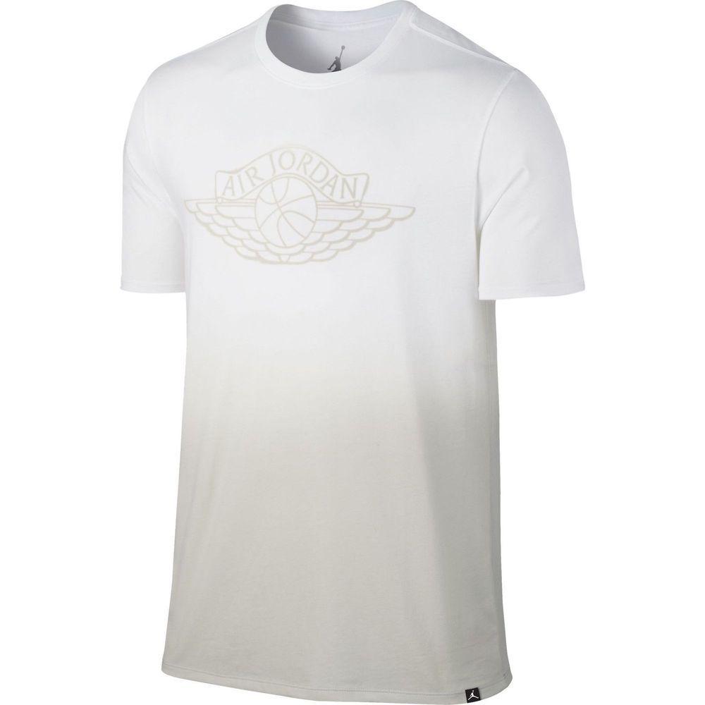 07d91aea4b2 NIKE Jordan Fadeaway Faded Casual Men s T Shirt White Light Bone 843138 101   Casual  GraphicTee