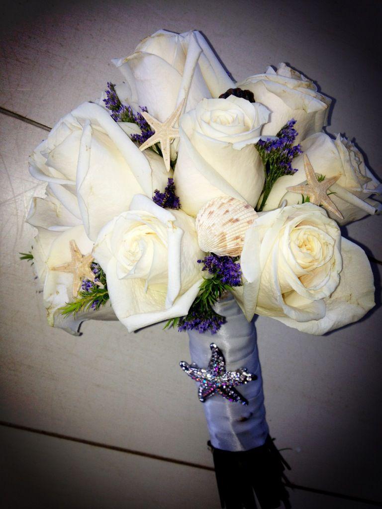 My beach wedding bouquet