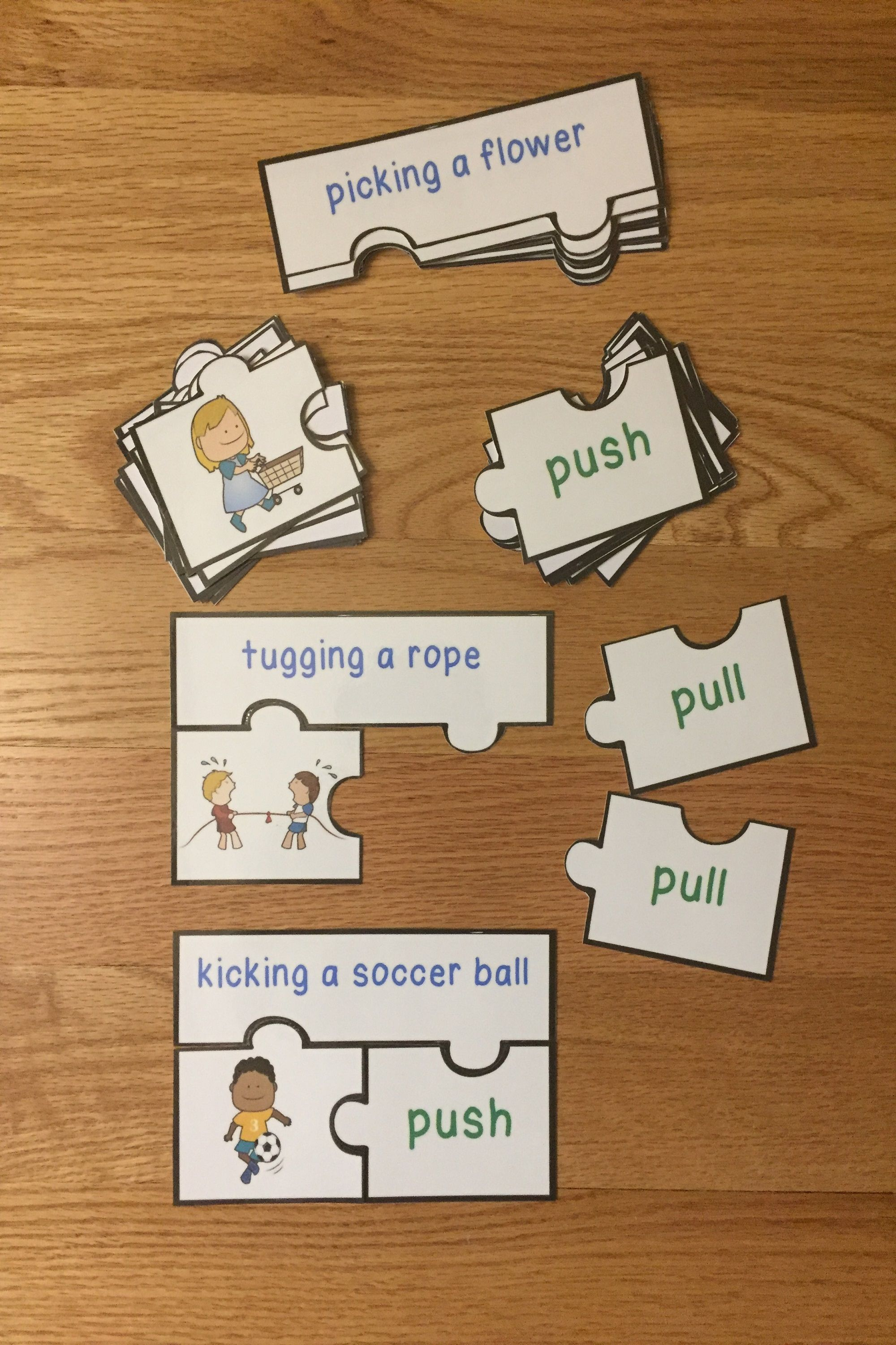 Push And Pull Sort Game Puzzles For Science Forces And