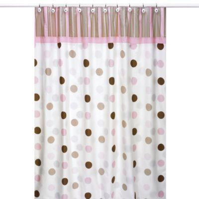 Sweet Jojo Designs Mod Dots Shower Curtain In Pink Pink Brown