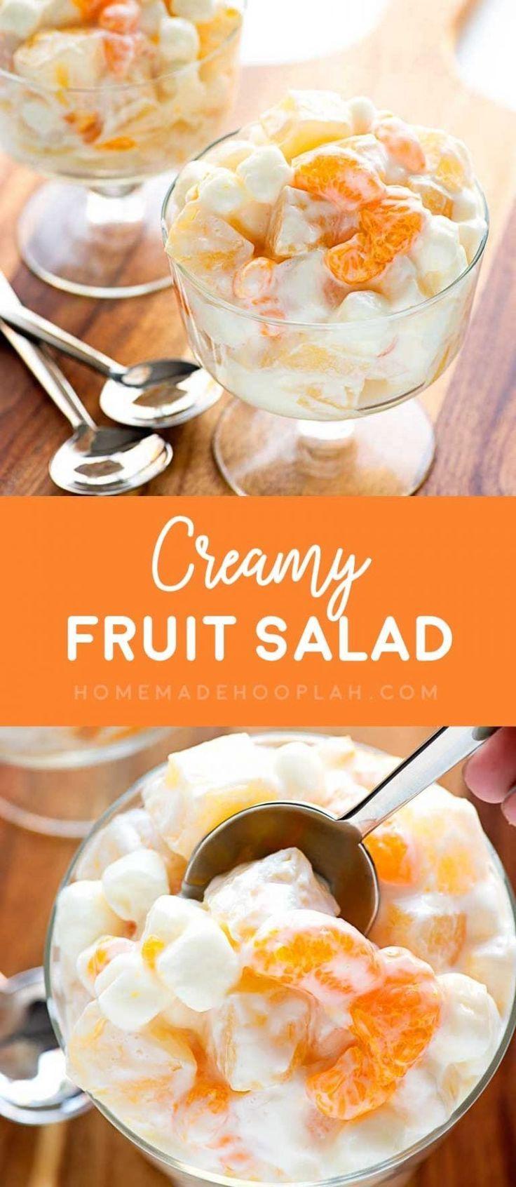 Cremiger Obstsalat! Ein sommerliebender Obstsalat mit Mandarinen, Ananas ...   - Dessert - #Ananas #Cremiger #Dessert #ein #Mandarinen #mit #Obstsalat #sommerliebender #fruitsalad