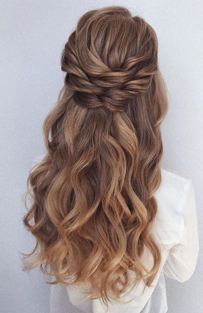 39 Gorgeous Half Up Half Down Hairstyles , braid half up half down hairstyles , partial updo ...