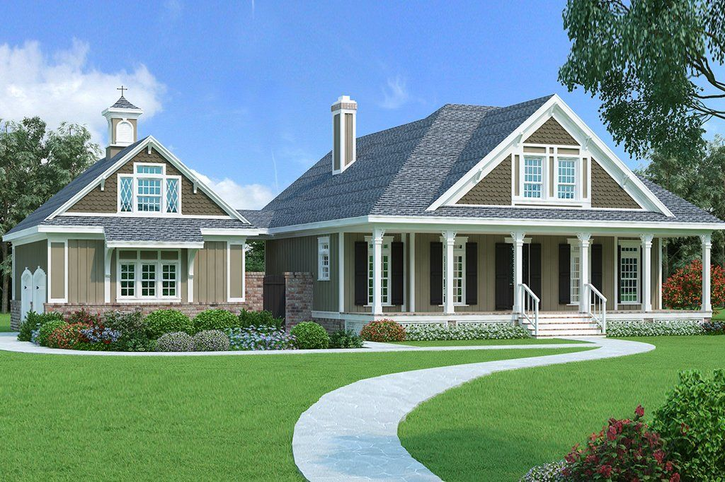 Southern Style House Plan 3 Beds 2 5 Baths 1755 Sq Ft Plan 45 571 Cottage Style House Plans Cottage House Plans Farmhouse Plans