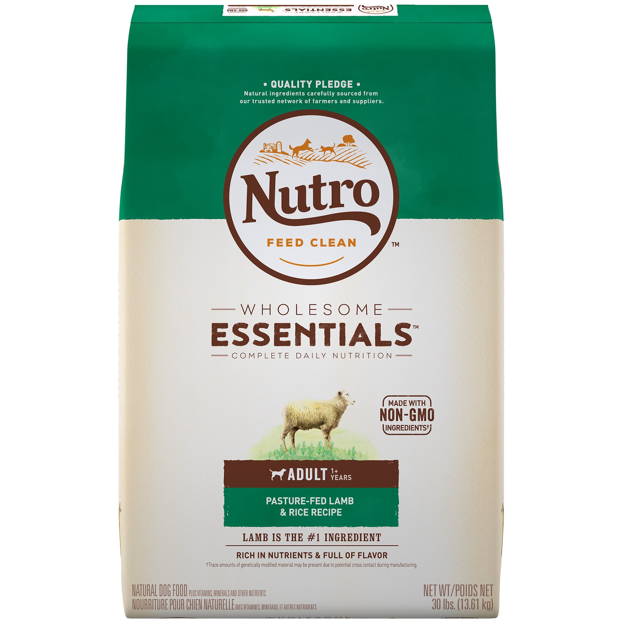 Nutro Wholesome Essentials Adult Lamb Rice Dry Dog Food 30lb