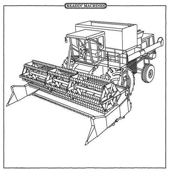 Combine Harvester Coloring Pages | Farm Machinery Coloring Pages ...