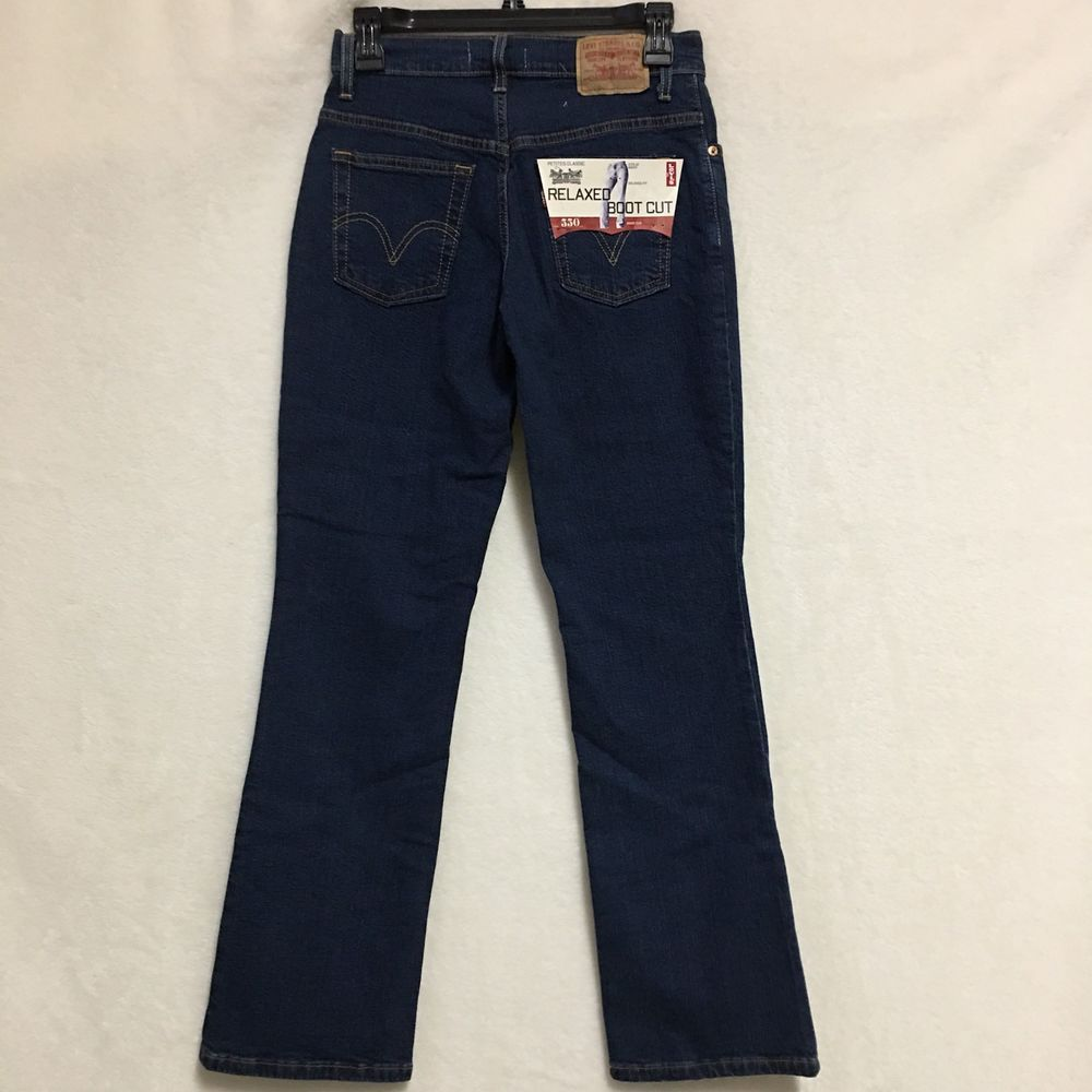 103b946a976 Levi's 550 Women's Jeans Size 2 Medium Boot Cut Relaxed Fit Dark Wash NWT  #Levis550 #BootCut