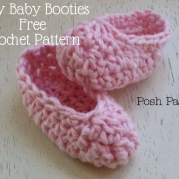 Easy Baby Booties Free Crochet Pattern Projects To Try Pinterest