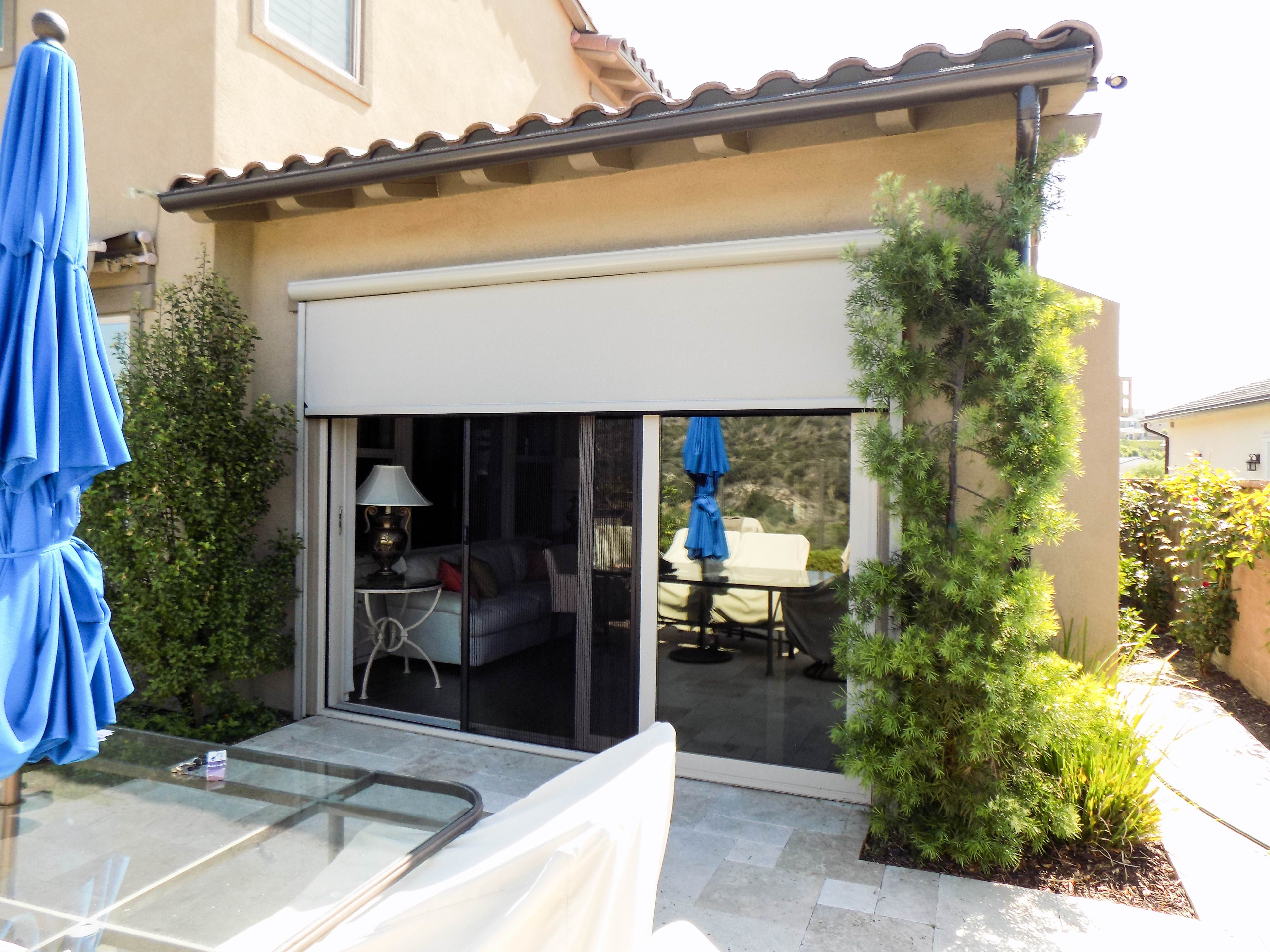 California Rooms And Motorized Power Screens Are The Peanut Butter And Jelly Of The Residential And C Shutters Exterior Retractable Screen Door California Room