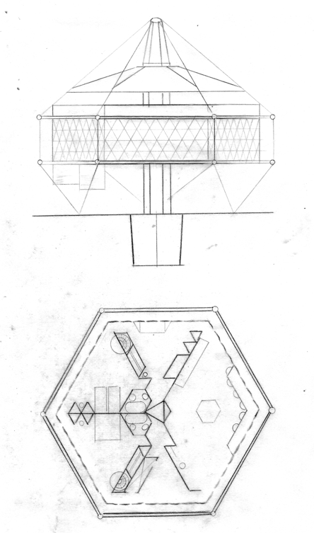 The First Dymaxion House Design Or 4d House 1927