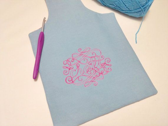 CRAFT Blue and Pink Reversible Yarn Bag for Fiber by #TheSteadyHand for $14 USD