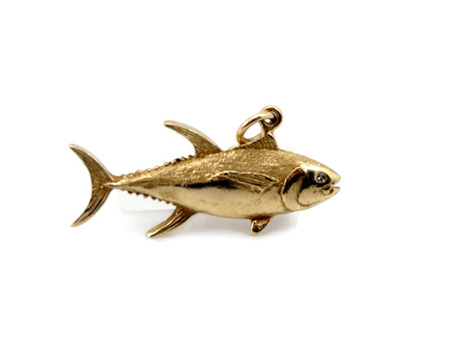 Reserved fish pendant 7 grams vintage jewelry scrap value for Solid gold fish