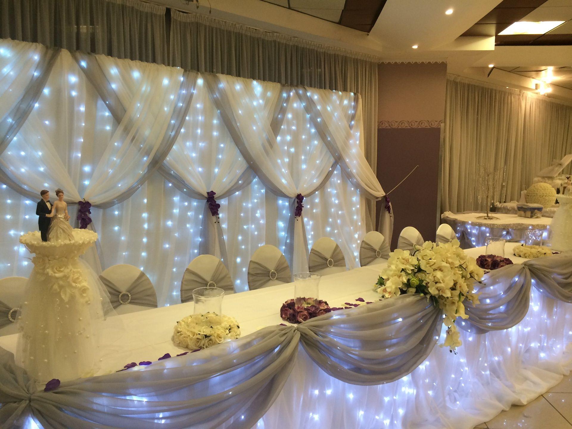 table d 39 honneur des mari s idee deco salle wedding. Black Bedroom Furniture Sets. Home Design Ideas