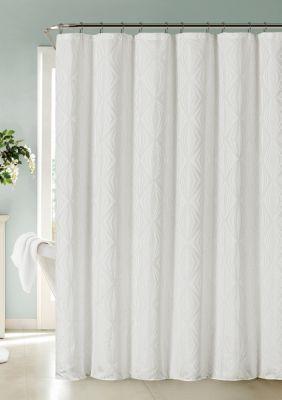 Dainty Home Romance Printed Fabric Shower Curtain Fabric Shower