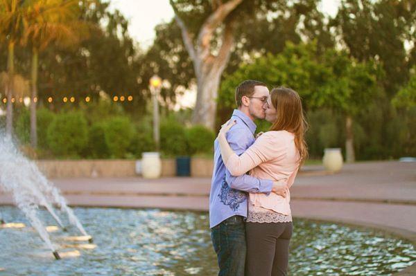 A romantic Balboa Park Engagement session #balboapark #sandiego #military www.studiosequoia.com