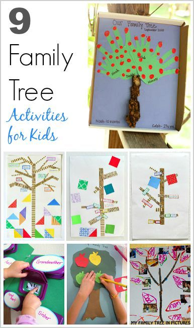 9 Family Tree Activities For Kids Buggy And Buddy Blog Pinterest