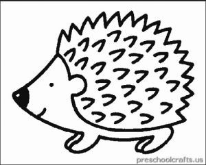 free printable hedgehog coloring page for child - Hedgehog Coloring Pages Printable