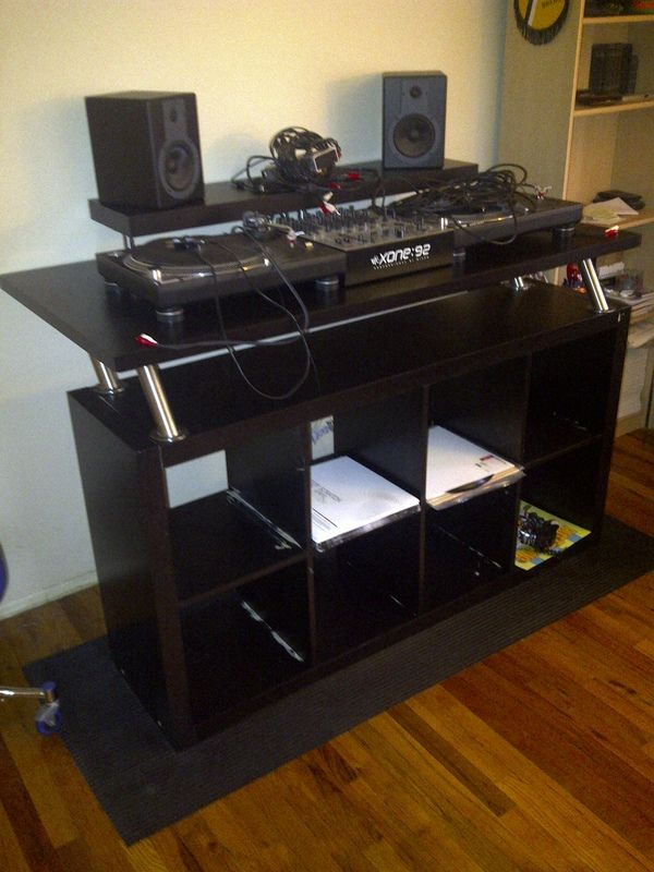 How To Create A Professional Dj Booth From Ikea Parts Dj Music