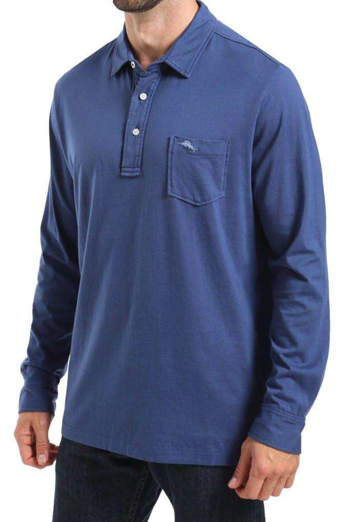 Tommy Bahama Polo - This long-sleeved polo shirt with collar ...