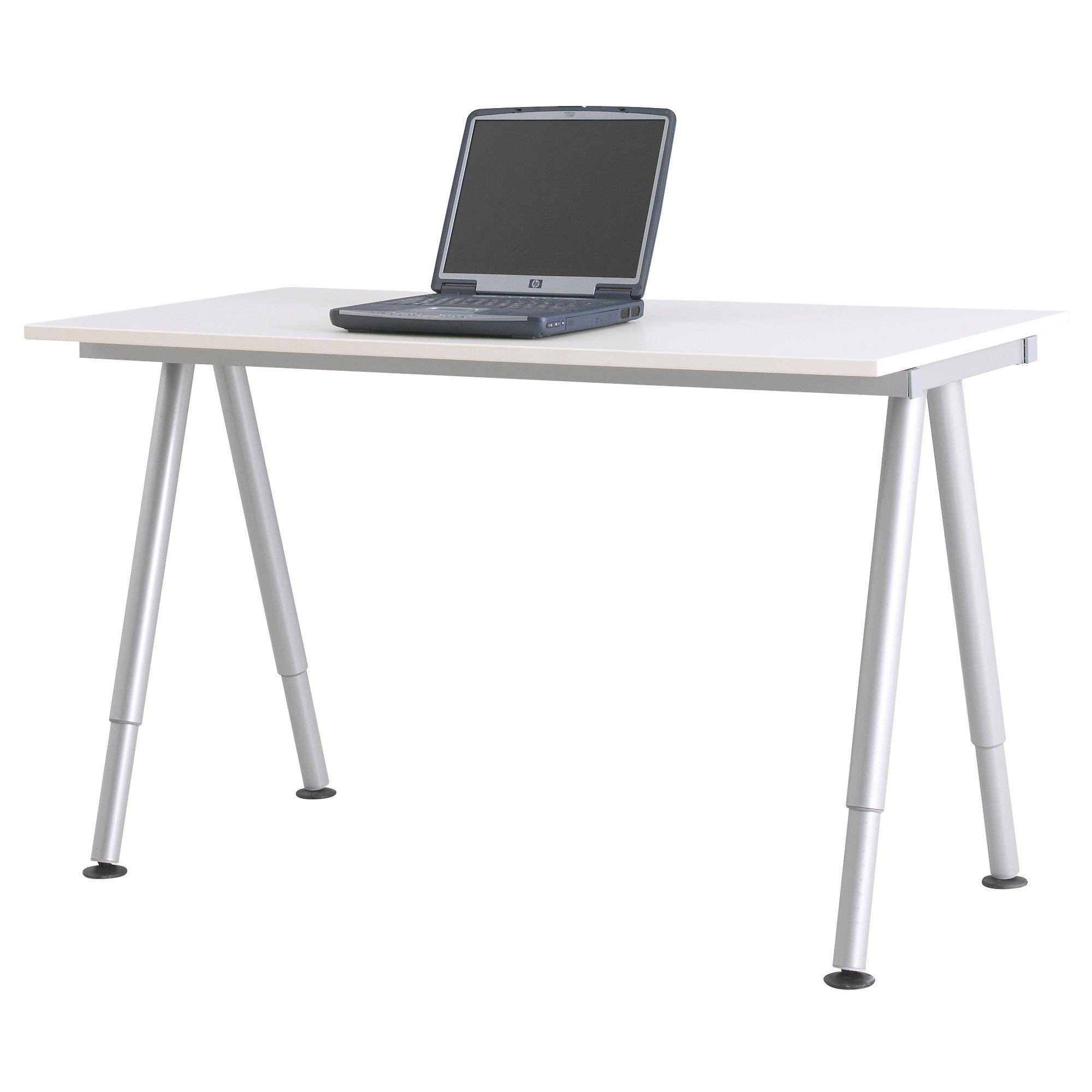 Ikea Schreibtisch Galant x2 galant desk white a leg silver color ikea bedroom