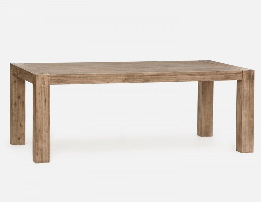 Fantastic Hamburg Grey Solid Acacia Wood Dining Table 200Cm 79 Gmtry Best Dining Table And Chair Ideas Images Gmtryco