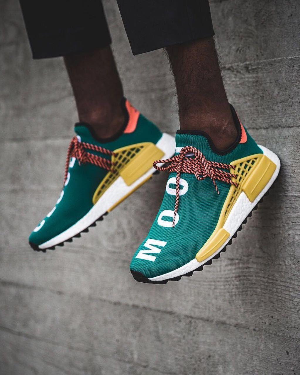 7402912471fe53 Pharrell Williams x adidas NMD Human Race Sun Glow