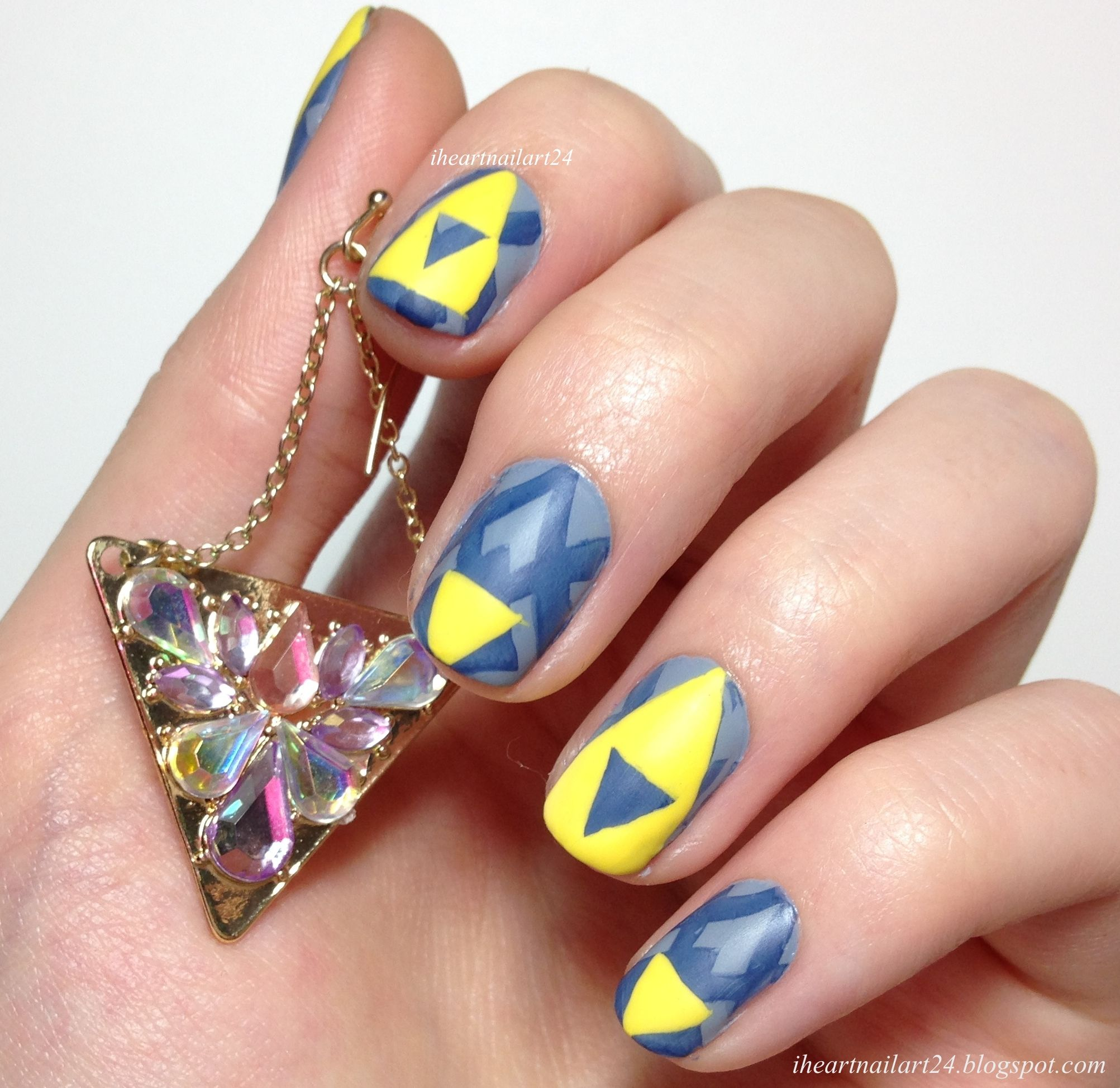 Zelda Triforce Nail Designs Www Topsimages Com