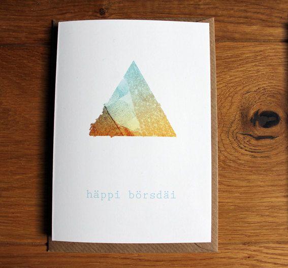 happy birthday !!!  häppi börsdäi Geburtstagskarte Grußkarte mit von nininotschka, €3,50