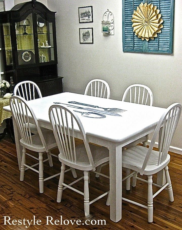 Bon Restyle Relove: Cutlery Graphic Dining Table U0026 Spindle Back Chairs