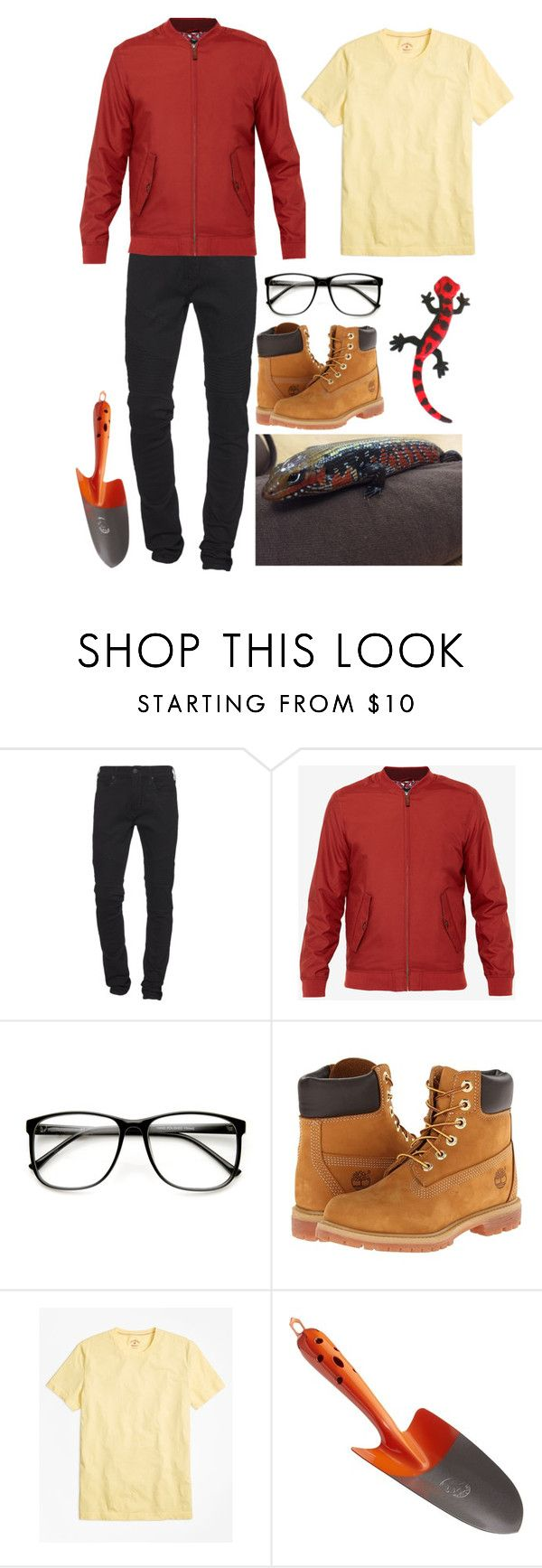 """""""Clarence"""" by thatidiotchild ❤ liked on Polyvore featuring True Religion, Ted Baker, ZeroUV, Timberland, Brooks Brothers, Hansa, CB2, men's fashion and menswear"""