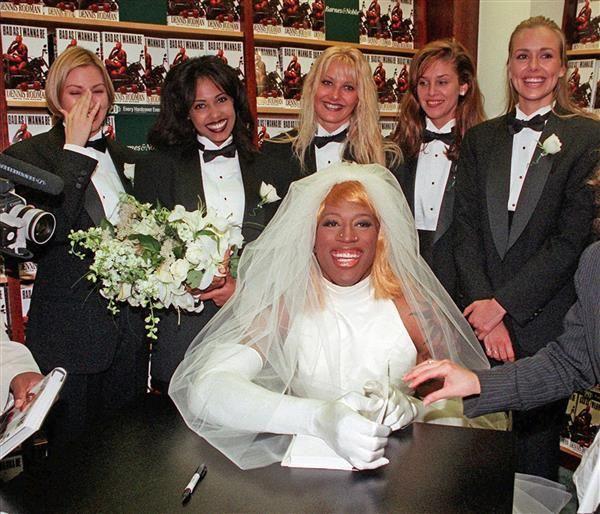 Iconic Celeb Fashion From 1996 Dennis Rodman Wedding Dresses