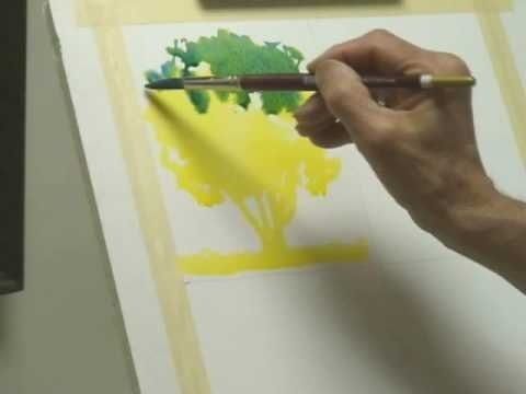 Watercolor Lessons Tree Techniques 1 Frank M Costantino By
