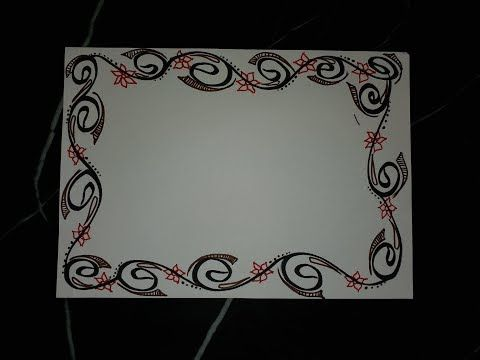 Simple Border Designs For Project File   valoblogi com Diy simple easy decorative border design for project file back to school  also youtube ame rd