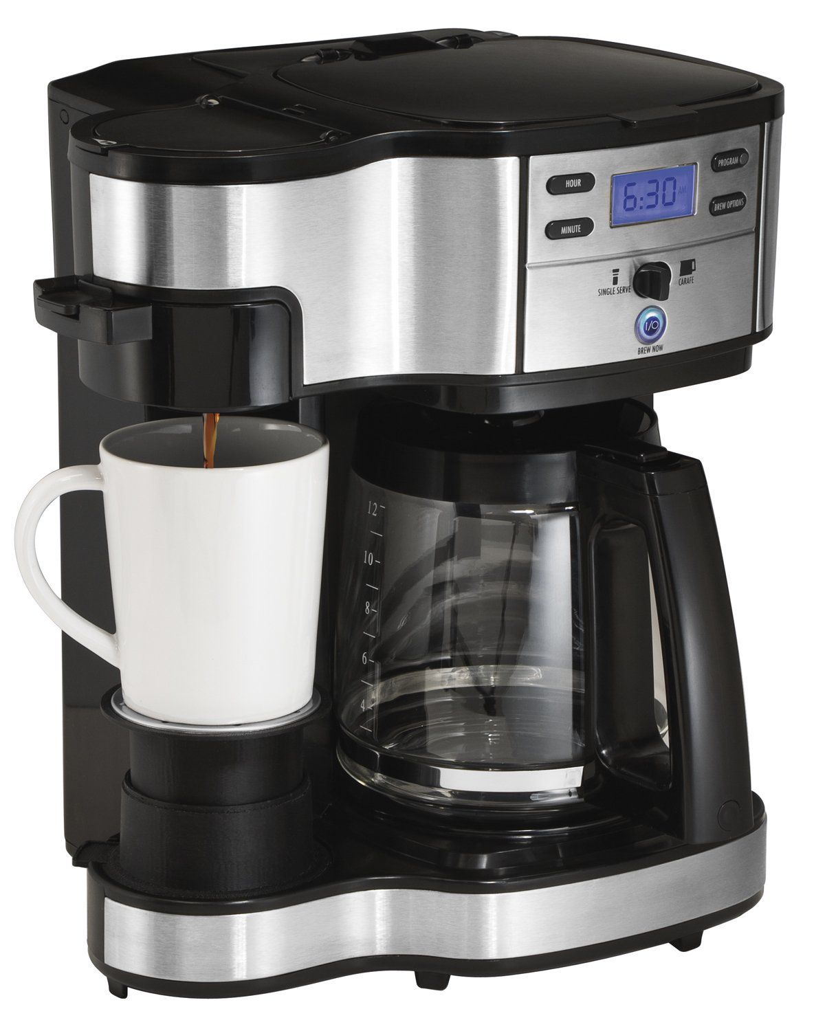 Hamilton Beach 49980a Single Serve Coffee Brewer And Full Pot Coffee
