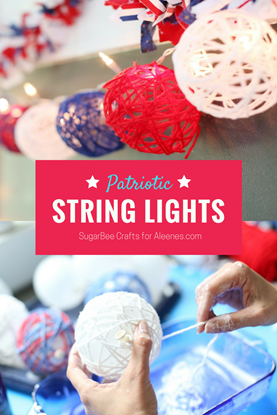 STRING ball lights - make these patriotic string lights for 4th of July - CLICK for the how-to ... #TackyGlue #Aleenes #crafts #DIY #HomeDecorDIY #HomeDecor #DIYDecor #DIYHomeDecor #PartyIdeas #PartyDecor #DIYParty #PartyDIY #partyFavors #PartyCrafts #4thofjuly #usa #america #fourthofjuly #julyfourth #july4th #patriotic