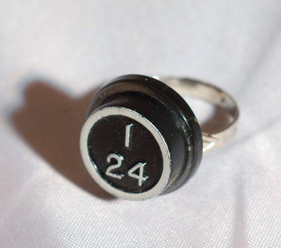 Vintage Bingo Piece I24 Ring by funkyou on Etsy, $7.00