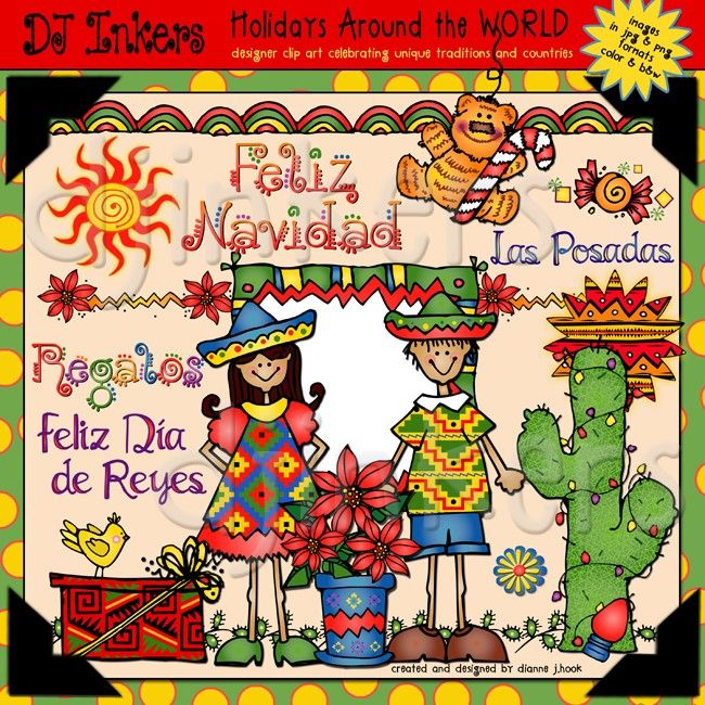 Clip Art Borders Fun Facts About Holidays Around The World By Dj Inkers Clip Art Holiday Clipart Holidays Around The World