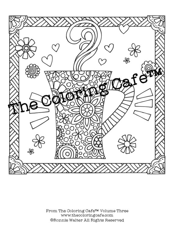 The Coloring Cafe™ Coloring Book for Grown-Ups Sampler ...