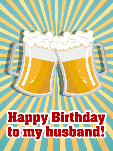 Cheers Happy Birthday Card For Husband Salud Prost Grab