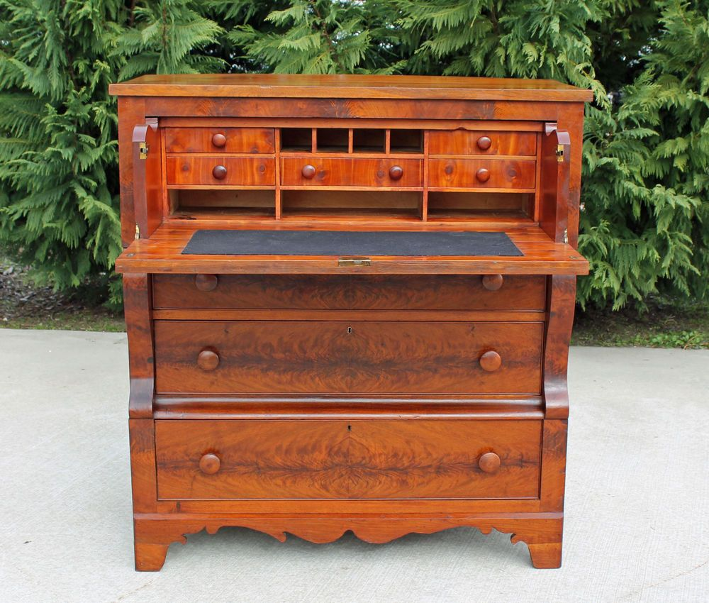 Classic american empire feathered mahogany walnut for American classic antiques
