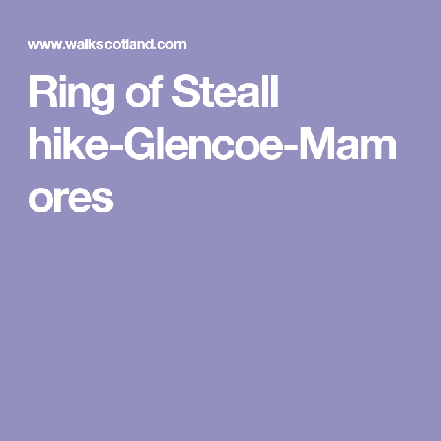 Ring of Steall hike-Glencoe-Mamores