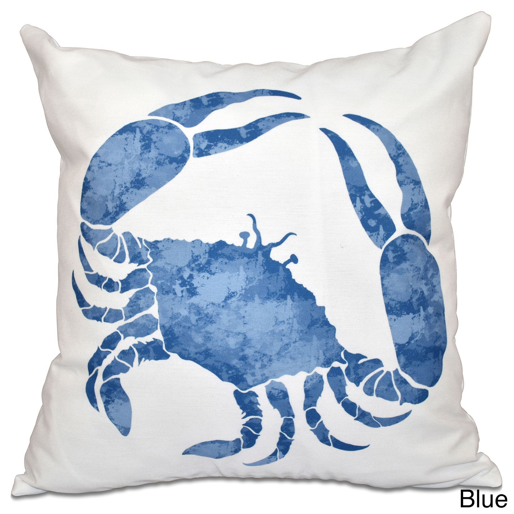 E by Design Crab Animal Print 18-inch Throw Pillow | Products ...