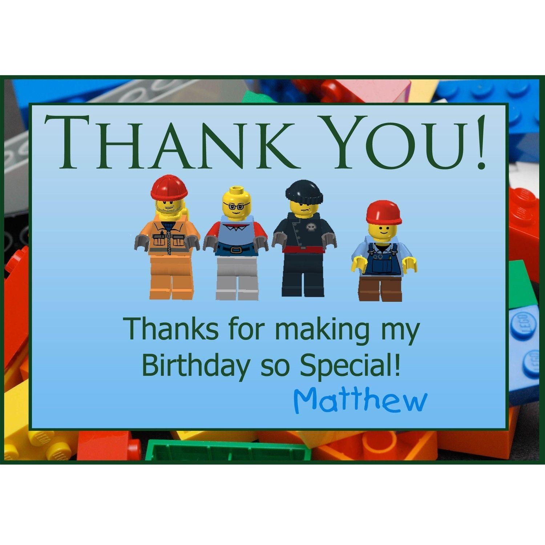 Free Printable Lego Thank You Notes