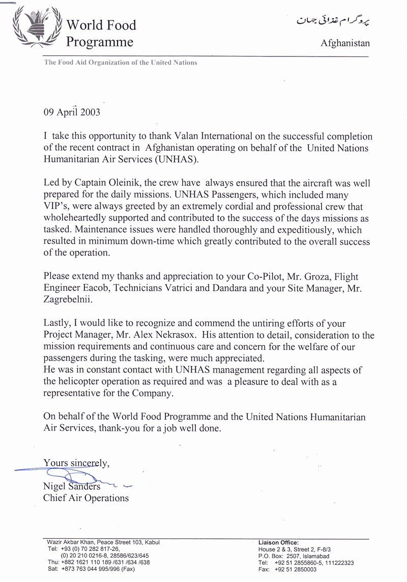 30 Pilot Letter Of in 2020 Letter of